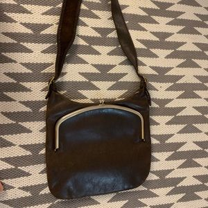 Dark brown Vintage shoulder purse